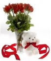dozen rose with i love you bear5