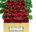 my vday 2 dozen red roses in box