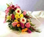 pink mixed cut flowers