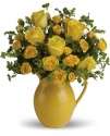 t71-1b teleflora sunny day pitcher of roses